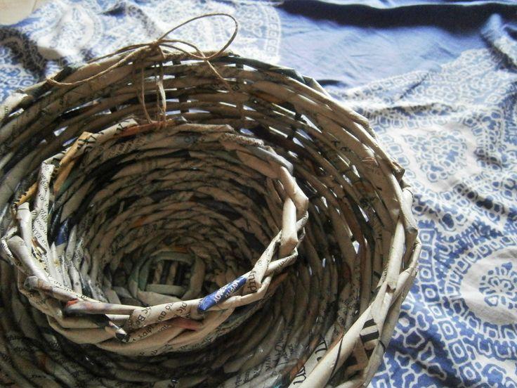 Σετ 2 χειροποίητων χάρτινων μπωλ - Set of 2 handmade paper bowls