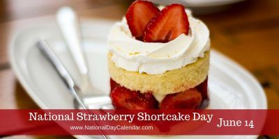 June 14th is National Strawberry Shortcake Day!  Celebrate today by eating this dessert by your water statue at http://www.waterstatues.com/