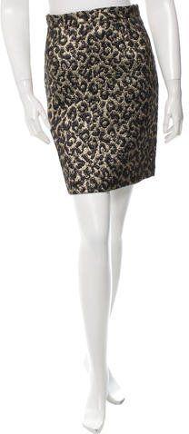 Michael Kors Metallic Cheetah Skirt w/ Tags