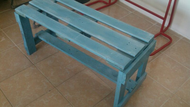 Banca de madera reciclada, buscanos en facebook