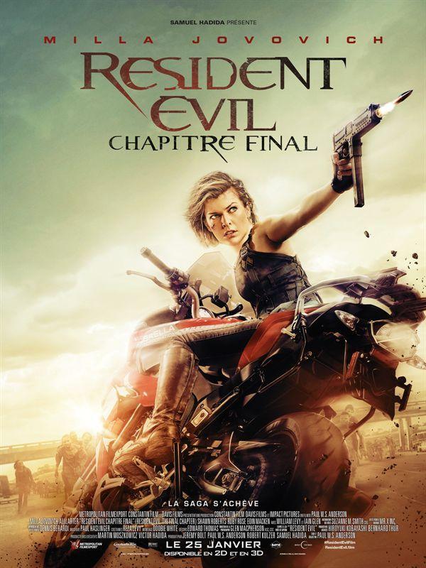 Resident Evil : Chapitre Final en streaming complet Alice, seule survivante de la bataille de Washington contre les zombies, doit retourner...