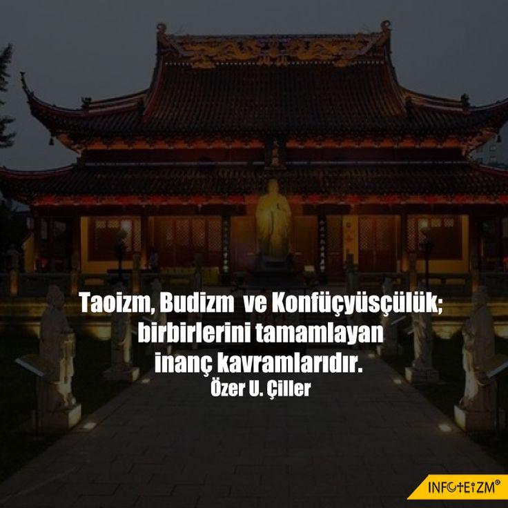 Taoizm, Budizm ve Konfüçyüsçülük; birbirlerini tamamlayan inanç kavramlarıdır. #din #toizm #budizm #konfüçyüsçülük #infoteizm
