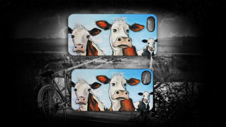 'Til the Cows Come Home' by Sally Ford. #Cows #Home #Funny #Animals #Art #iPhone #Cases #Artmobilis