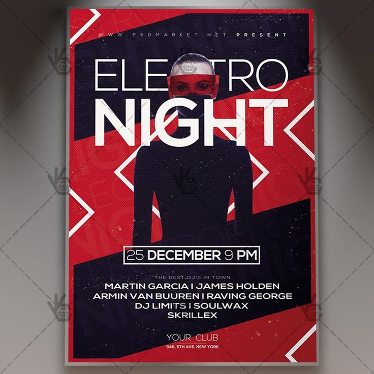 Electro Night - Club Flyer PSD Template. #dance #disco #dj #djflyer #electro #errorless #fest #futuristic #music #nightclub #party #pop #techno  DOWNLOAD PSD TEMPLATE HERE: https://www.psdmarket.net/shop/electro-night-club-flyer-psd-template/  MORE FREE AND PREMIUM PSD TEMPLATES: https://www.psdmarket.net/shop/