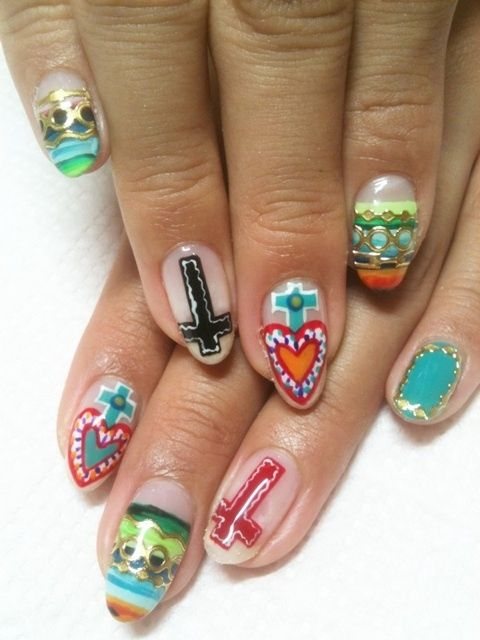 185 best mexican inspired nail art images on pinterest arte mexicana mexican folk artmexican prinsesfo Image collections