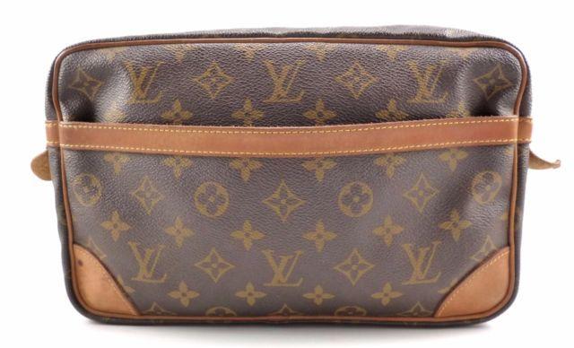 Louis Vuitton Compiegne 28 Vintage Clutch Handbag Monogram Canvas Authentic | eBay