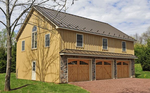 I Like The Small Protrusion Over The Garage Stalls To Break Up The - 2 story garage house