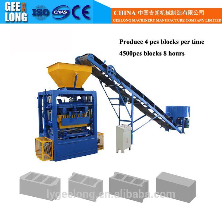 small hollow block production line QT4-26 semi-automatic concrete hollow block machine for sale