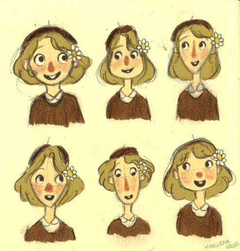 Florist Designs by marlenakate.deviantart.com Different head shapes and sizes.