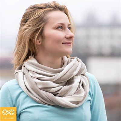 100% Organic Linen Infinity Scarf - Chemical-free, Sweatshop-free. Made in-house by Rawganique