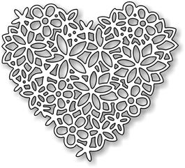 *Impression Obsession Steel Dies FLORAL LACE HEART DIE054-S  9     Manufacturer: Impression Obsession SKU:	 DIE054-S / 0.7 UPC:	845638006075...