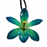 Blue-Cymbidium Necklace $45