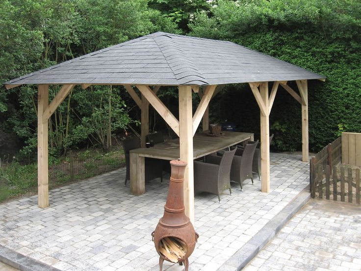 Superior wooden Gazebo 3.4x5.9m