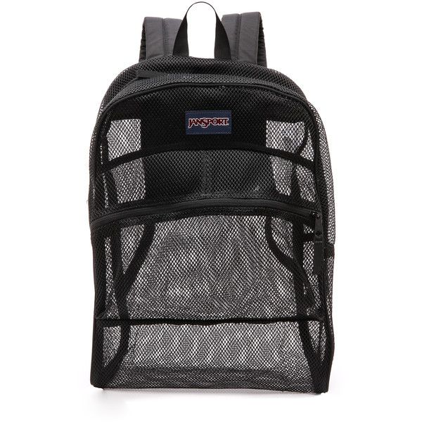 JanSport Mesh Backpack 30 Liked On Polyvore Featuring Bags Backpacks Accessories