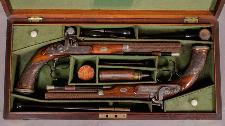 - Early Cased Pair of Percussion Dueling Pistols by Durs Egg of London  - Vallejo Maritime Gallery, 18th century marine art, 19th century marine antiques, 19th century marine art, 20th century marine art, Marine art, Maritime paintings.