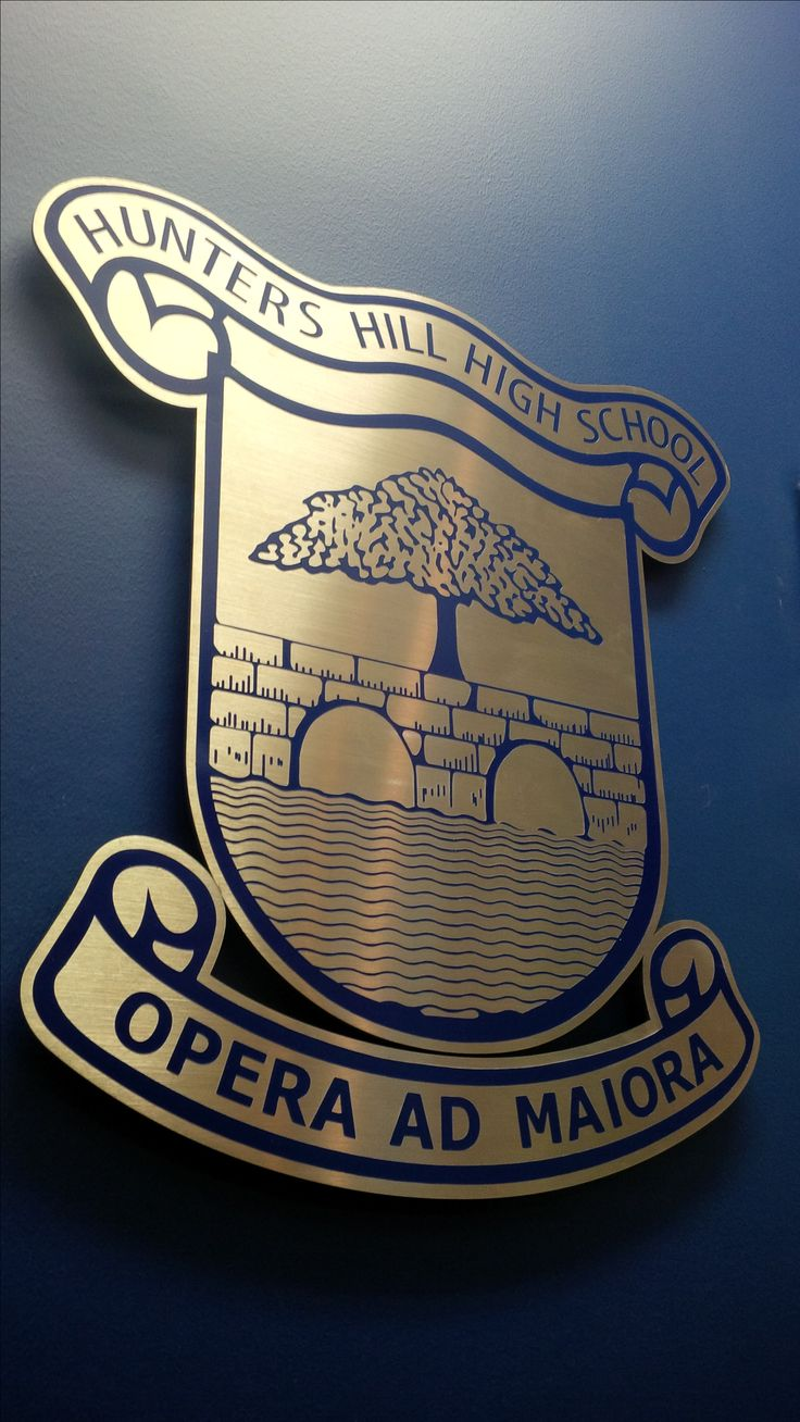 Hunters Hill High School #CSI #3D #lettering #custom #sign #CAD #extrusion #signage #name #letter #word #corporate #school #recognition #identity #design