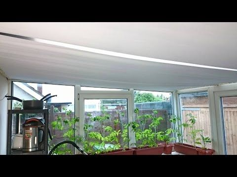 DIY Conservatory Sun Roof Blinds: Sloping Roof Covering 6 x 3 Metres - YouTube