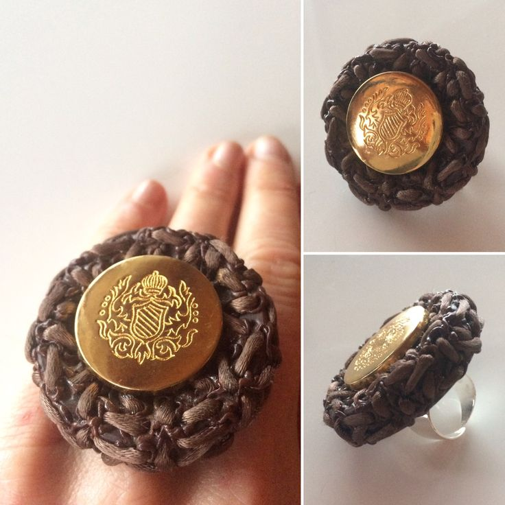 Why not Big and with an air of Royal? This ring is made of a leftover vintage button from Borås, Sweden.