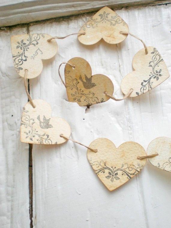 paper heart garland <3