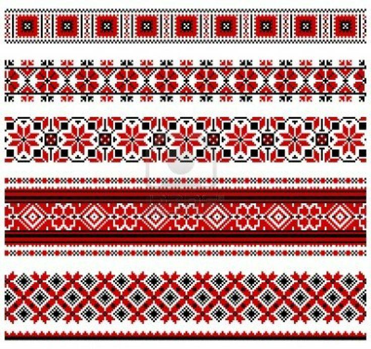 Ukrainian embroidery design