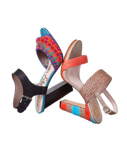 Colorful shoes are an easy way to brighten up a more conservative outfit.