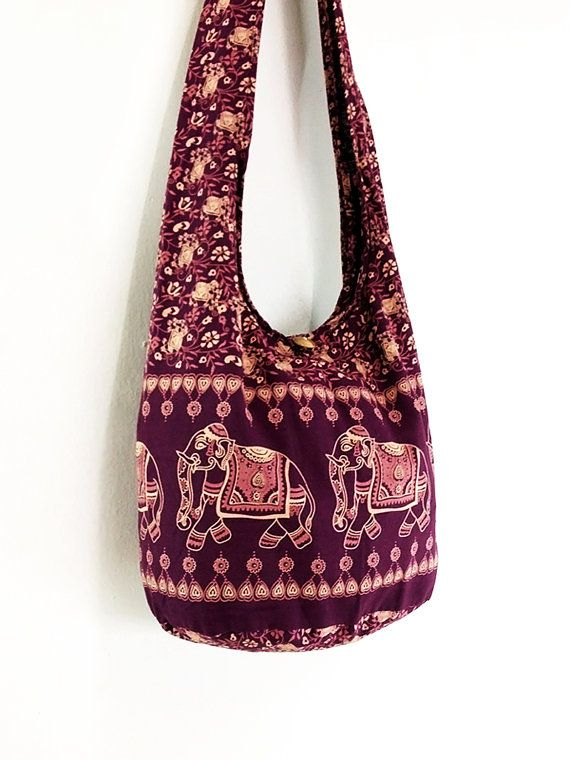 Women bag Handbags Cotton Elephant bag Hippie bag by veradashop, $8.98