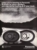 Panasonic Tri-phase Car Stereo Speakers 1985 Ad Picture