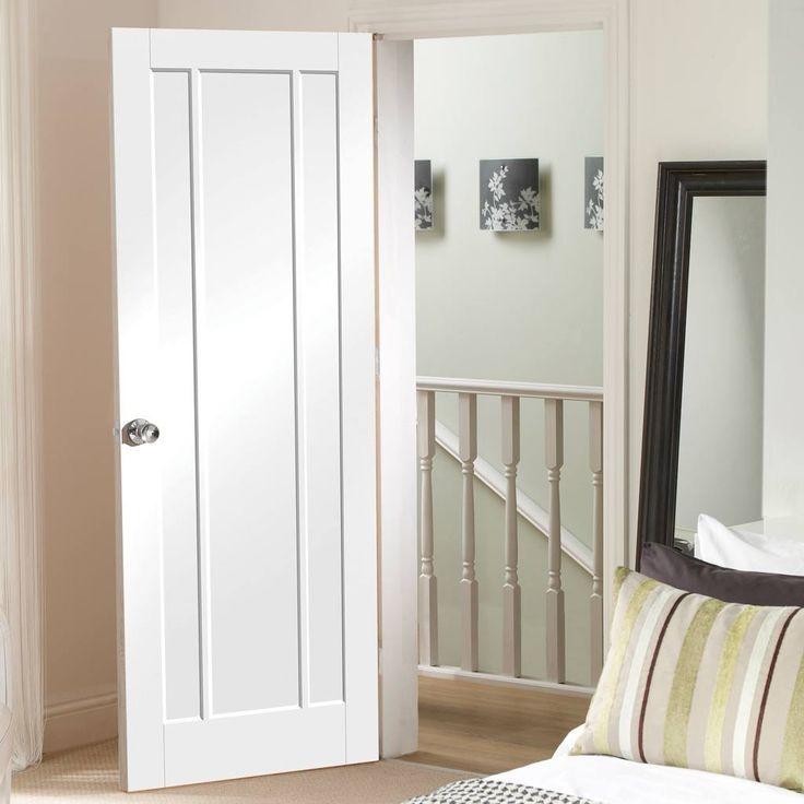 Worcester White Primed 3 Panel Door. #whitedoor #internalwhitedoor #whitemoderndoor