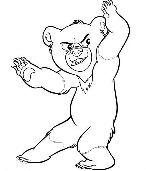 brother bear coloring pages - Brother Bear Moose Coloring Pages