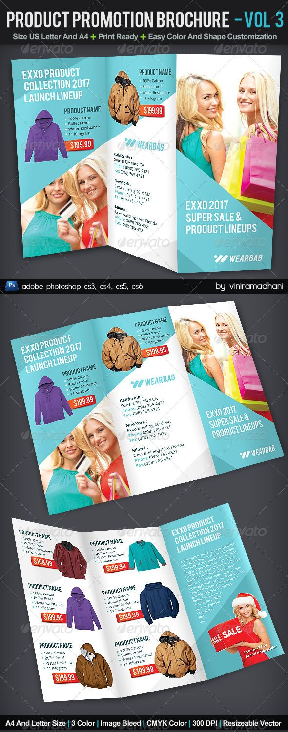 Product Promotion TriFold Brochure   Volume 3