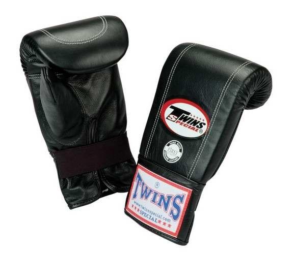 boxeo  Twins Sandsackhandschuhe aus Leder TBM-1 schwarz