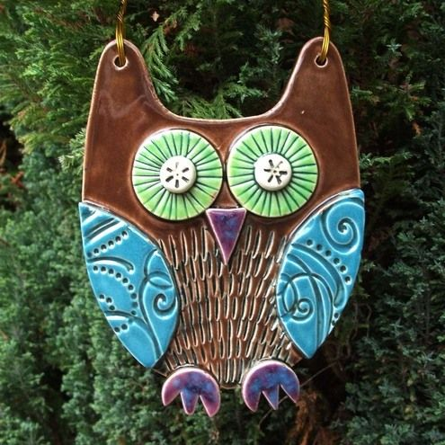 Owl bird ceramics pottery clay glaze | Pottery | Popular Crafts | Craft Juice