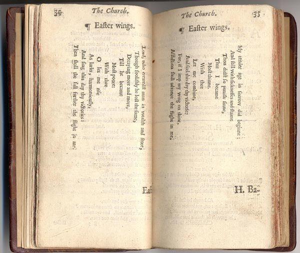"""George Herbert, """"Easter Wings,"""" 1633"""