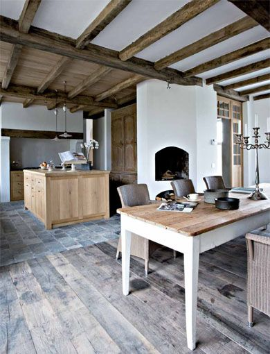 Corvelyn - Realisations - Restored farmhouse - Xavier Donck......This is  another floor looks similar  to what we saw & liked.  Do u like it?? It is wood.