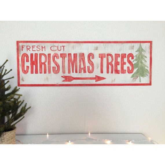 Fresh Cut Christmas Tree Sign (Add Hot Apple Cider, Apple Donuts)