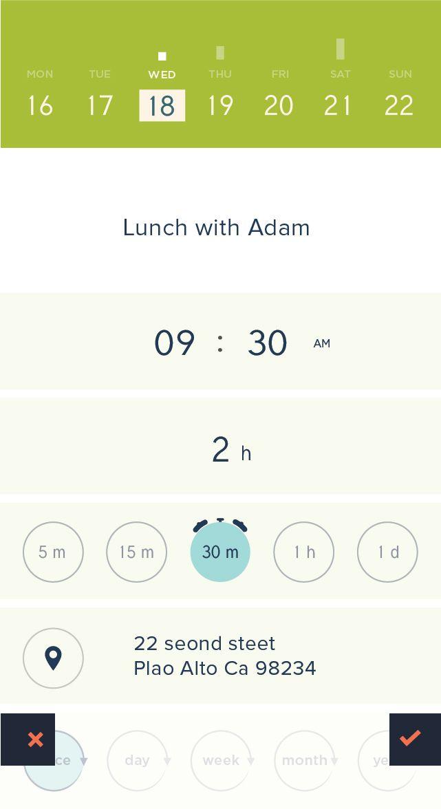 Peek Calendar - iPhone App UI Design Inspiration