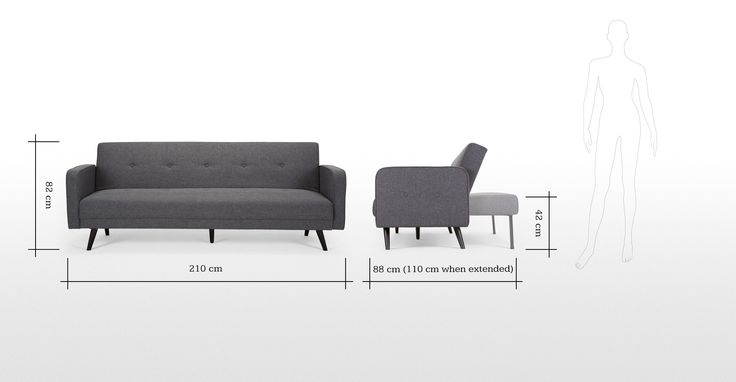 Chou Sofa Bed in cygnet grey | made.com