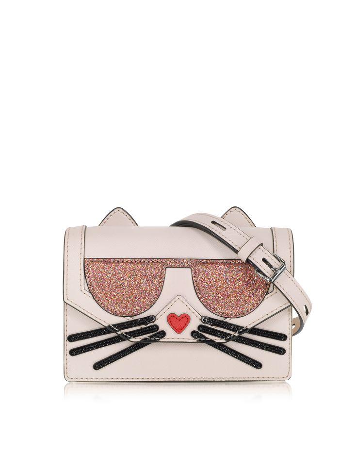 Karl Lagerfeld K/Kocktail Choupette Crossbody Bag w/Glitter