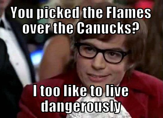 Canucks Flames Memes Austin Powers