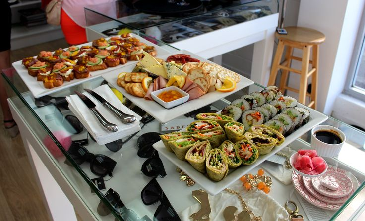 Tomi's offer a wide range of catering for special functions. These delicious platters were for a Hen Party.