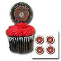 """""""USMC Emblem"""" Mini Edible Image (Sheet of 9)"""