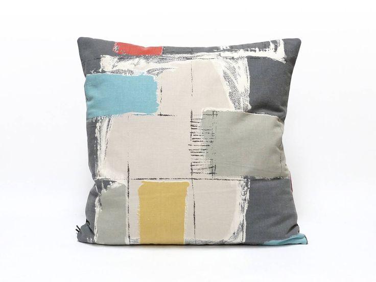 Mid Century Pillow Cover, Color Block Throw Pillow, Modern Cushion Cover, Sofa Throw, Retro Pillow Case, Modern Home Decor by EllaOsix by EllaOsix on Etsy