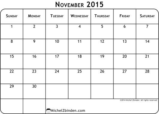 Feel Free to Download Print 2015 November Calendar and November 2015 Holidays. Nov Calendar Blank Template, PDF Doc, MS Word, Excel, Page, Notes, Vector.
