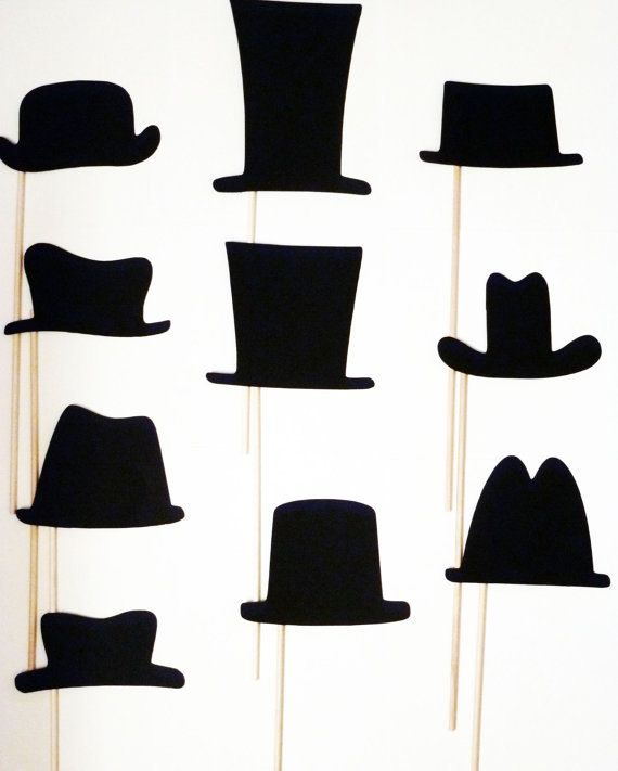 10 Piece DIY Party Props Hats On a Stick Photobooth Props Made to Order