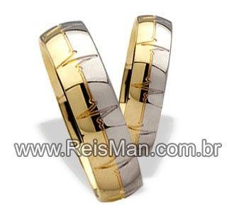 Par de Alianças Batimento Cardíaco ♥ Casamento e Noivado em Ouro 18K - Reisman                                                                                                                                                      Mais