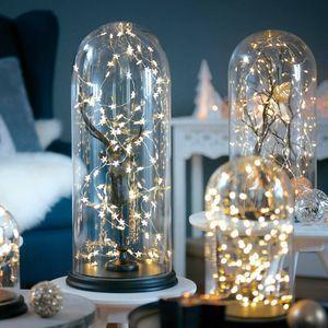 Lichterkette Strang Mini Kunststoff 50 LED Indoor klar ca L:2,6 m