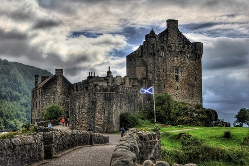 """Castles in Scotland! Castles all over Europe would be a dream!! I would especially love to visit the """"haunted"""" ones! (Eilean Donan Castle)"""