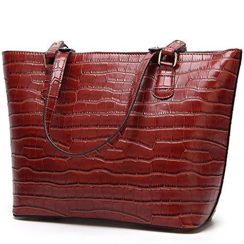 Wine Handbag For Women Shoulder Bags Tote Purse PU Leather, Dating Business Work #worldwidemark3tShoulderBag #ShoulderBag
