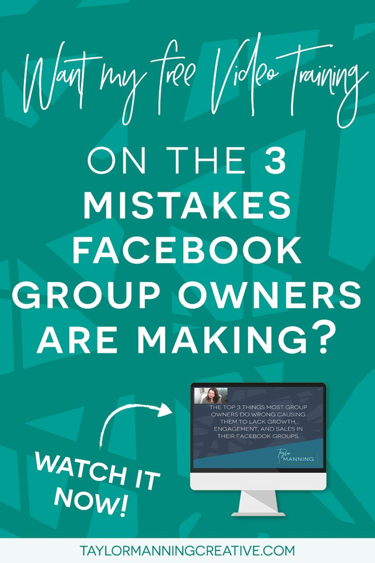 Want to find out the top 3 Mistakes Facebook Group Owners Make that is keeping them from consistent and automated member growth, massive engagement and five figure months? Follow the link, leave your name and email and I'll send the training right over!