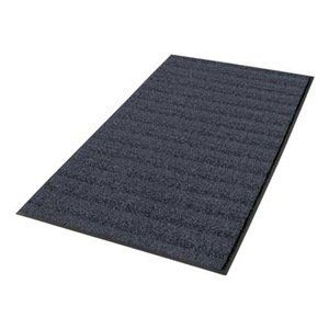 "Entrance Mat, 3 x 5 Ft., Navy Blue by Notrax. $100.17. Heavy-Traffic Entrance MattingUse Boulevard and Uptown together as an upscale scrape and dry entrance matting system. Heavyweight vinyl-backed mats ensure minimum movement while protecting floors. Beveled edge on 4 sides minimize tripping. 3/8"" thick.BoulevardHigh-low wave design of alternating 40 oz. Decalon tufted yarn with mono-filament wrapped yarn provides both drying and aggressive scraping of shoes.E..."